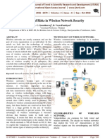 Attacks and Risks in Wireless Network Security