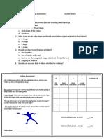 frisbee assessment