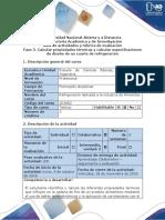 Guía de Actividades y Rúbrica de Evaluación - Fase 3 - Calcular Propiedades Térmicas y Calcular Especificaciónes de Diseño de Un Cuarto de Refrigeración Para El Alimento Seleccionado