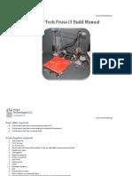 Folgertech Prusa i3 Build Manual v1
