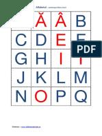 Alfabetul Cartonase Litere Mari