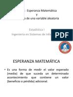 PP Esperanza Matematica y Varianza