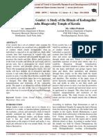 Re-reading Caste and Gender A Study of the Rituals of Kodungallur Sri Kurumba Bhagavathy Temple of Kerala