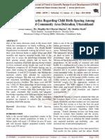 Knowledge and Practice Regarding Child Birth Spacing Among Women in Selected Community Area Dehradun, Uttarakhand