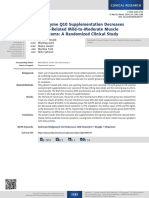 Coenzyme Q10 Supplementation