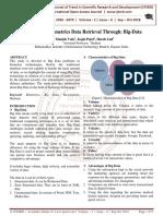 Multi Model Biometrics Data Retrieval Through Big-Data