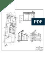 Arquitectura Vivienda Casa Chincha Corte Elevacion