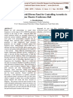 Development of Hybrid Fibrous Panel for Controlling Acoustics in Home Theatre Conference Hall