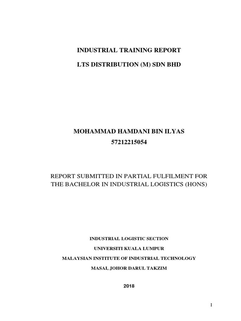 Contoh Report Intern Logistics Warehouse