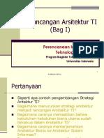 Perancangan Arsitektur TI Bag I