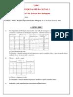 Lista 3 - Pesquisa operacional 2