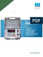 Low Resistance Meter Lr 2045 s