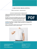 PREGUNTAS FRECUENTES CIRUGÍA ESTÉTICA CIRUGÍA DE PECHO – GINECOMASTIA