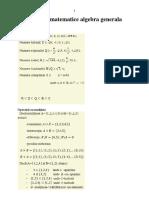 Formule Matematice Algebra Generala