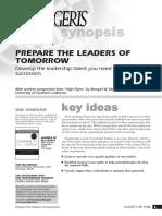 Prepare the Leaders of Tomorrow-Dirigeants-Demain