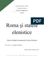 Roma Si Statele Elenistice