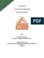 Petunjuk Penyusunan Proposal KP (Prodi MI Edisi 5 Mei 2012) Part 1