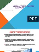 Electrostatic Powder Painting