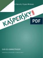 Manual Kaspersky Security Center 10