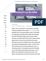 Top Ten Deleted Bible Verses That Were Not in the Original Text – the Reluctant Skeptic