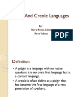 Pidgin , Creole and Register Group 3