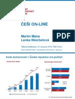 ČSÚ - Češi on-line