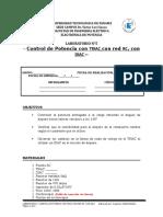 LABORATORIO 5_Control de Potencia Con El TRIAC 2018-1