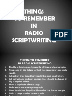 CCB Things to Remember the Broadcast Scriptwriting Copy