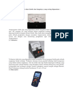8 alat ukur listrik dan penjelasannya