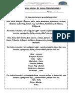 Canción Hola Idiomas Del Mundo Lunes 19 de Noviembre