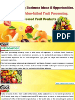 Fruit Processing Business Ideas & Opportunities