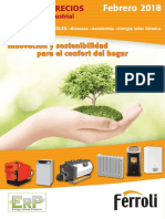 Tarifa Calefacción Ferroli 2018