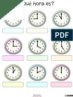 Trabaja Las Horas y Los Relojes Con Estas Fichas Para Conocer y Repasar Las Horas