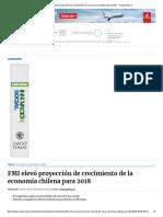 FMI elevó proyección de crecimiento de la economía chilena para 2018 - Cooperativa