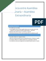 Asamblea Ordinaria y Extraordinaria Guatemala