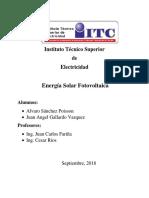 Disenño Sistema Fotovoltaico Quincho Moderno