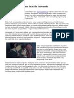 Saatnya Unduh Anime Subtitle Indonesia