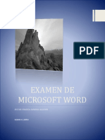 Examen de Microsoft Word Sandra