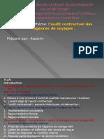 Audit Contractuel Des Agences de Voyages