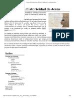 Fuentes de La Historicidad de Jesús - Wikipedia, La Enciclopedia Libre