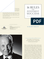 16 Rules of Investing