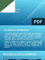 Los artículos informativos.pptx
