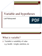 Variable and Hypotheses