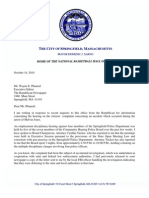 Mayor Sarno letter to The Republican RE Community Hearing Police Board
