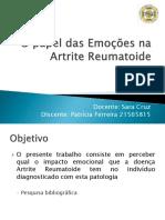 O PAPEL DAS EMOCÕES NA ARTRITE REUMATOIDE.pptx