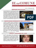 Notizie Dal Comune di Borgomanero del 15 Novembre 2018