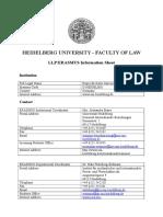 Heidelberg Law Data Sheet
