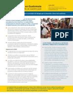 Guatemala-Malnutrición. Proyecto FANTA 2017