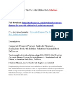 Corporate Finance the Core 4th Edition Berk Solutions Manual