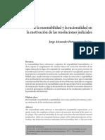 Sobre La Razonabilidad y La Racionalidad Jorge Protocarrero Quispe
